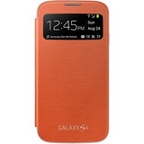Capa S View Galaxy S4 Original Laranja Lacrado Envio Grátis