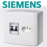 Conjunto Tomada Disjuntor Para Ar Condicionado Sobr. Siemens
