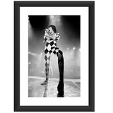 Quadro Freddie Mercury Queen Bandas Rock Art 70 Preto Branco