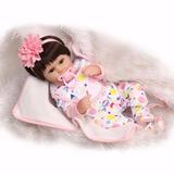 Boneca Bebê Reborn Realista - Cris 45 Cm Com Chupeta