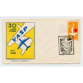 Envelope Vasp 30 Anos - 4-nov.-1963 Natal - Rn