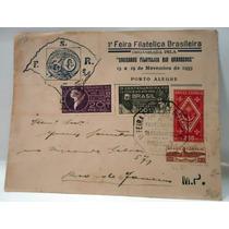 Envelope 1a. Feira Filatélica Riograndense - P. Alegre 1933