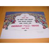 Folder Chevrolet 51 1951 Picape Caminhao Boca De Sapo Poster