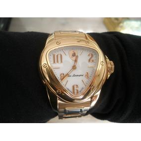 Relógio Lamborghini Aço E Ouro Rose Original