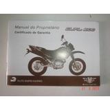 Novo Em Branco Manual Moto Dual 200 Mvk Motocicleta Motaro