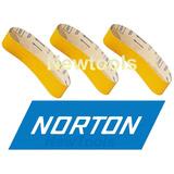 Cinta De Lixa Com 3peças 3x21 533x75mm P/madeira Norton G60