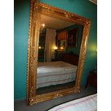 Espejo Antiguo De Salon Dorado Al Oro