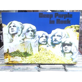 Deep Purple In Rock Lindo Quadro Artesanal Madeira