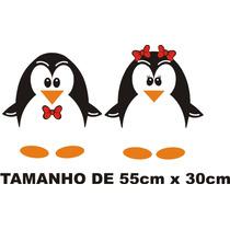 Adesivo Decorativo Casal De Pinguins 2 Geladeira