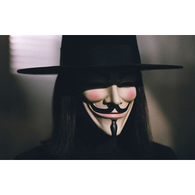 Máscara V De Vingança - V De Vendetta - Anonymous Guy Fawkes