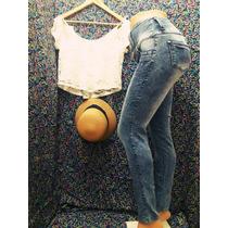 Jeans Tiro Alto Elastizado Para Dama, Excelente Calidad!!