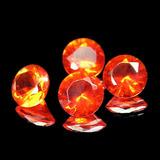 4 Pedras Opalas De Fogo Mexico Limpas 3.70 Cts Com Garantia