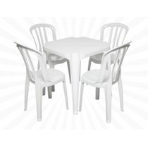 Conjunto De Mesas E Cadeiras De Plástico Goiania 120 Kg