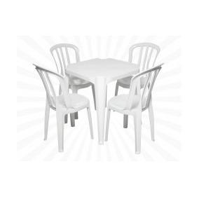 Conjunto De Mesas E Cadeiras De Plástico Goiania 182 Kg