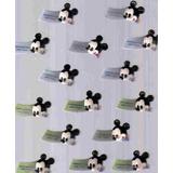 Kit 40 Lembrancinhas Rostinho Mickey Baby Com Nome * Biscuit