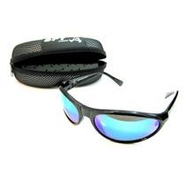 Óculos De Sol Spy Mod 16 Preto Fosco - Lente Azul Espelhada