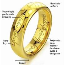 O Um Anel Senhor Dos Anéis Aço Inoxidável Folheado A Ouro