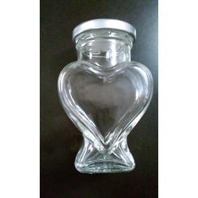 100 Pkt Frasco En Forma De Corazón De Vidrio 106 Ml Recuerdo