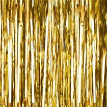 Cortina Papel Metalica Oro Decoracion Fiestas Boda 1 Pieza
