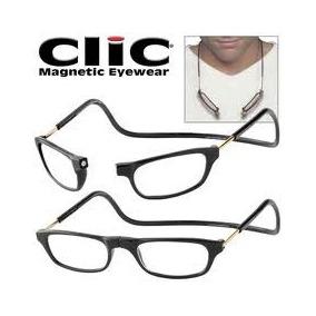 Óculos De Leitura Clic Round Azul Claro C/ímã Muito Prático