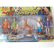 Coleção 5 Bonecos Scooby Doo Desenho Salsicha Articulados