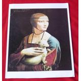 Gravura Dama Com Um Arminho Leonardo Da Vinci 29x43 .
