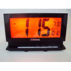 Relógio Despertador Digital Led Luz Vermelha Calendario 2946