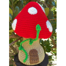 Hongo Casa Crochet Amigurumi Decoración