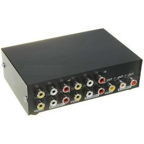 Chaveador / Seletor De Video E Audio Composto Rca Av 4x1