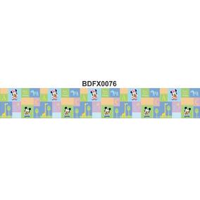 Adesivo Bdfx0076 Mickey Minnie Baby Border Faixa Decorativa