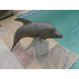 (sergioschw) Golfinho Cascata Chafariz Bronze Piscina,jardim