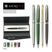 Boligrafo Micro Vip Merlino Oferta 20 U. + Estuches Y Bolsas
