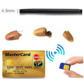 Micro Escuta Ponto Eletronico Espião Invisível E Cartão Gsm