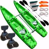 Kayak Rocker Twin Catamaran + 2 Remos + 2 Butacas + Sogas ++
