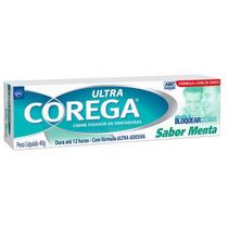 Corega Ultra Creme Fixador De Dentadura 40g Sabor Menta