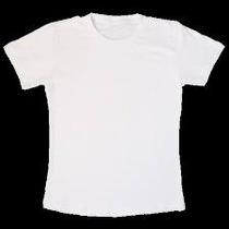 Camiseta Baby Long Branca Tecido 100% Poliester Fio 30.1