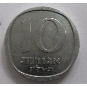 Israel: Linda Moeda De 10 Agorot 1960-1980 - S/fc