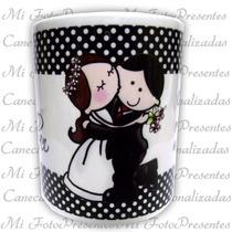 Caneca De Porcelana Personalizada + Brinde (celofane E Laço)