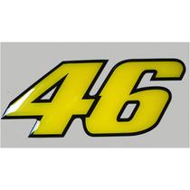 Adesivo 46 Valentino Rossi Resinado P/ Moto Carro Etc