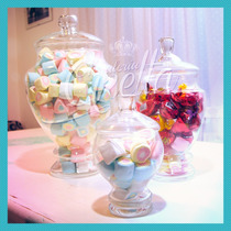 Set De 3 Potiches Candy Bar Carameleras Bomboneras