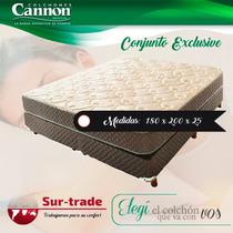 Sommier+colchon Cannon Exclusive S Pillow 180x2 King Espuma