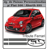 Jg Faixa Fiat 500 695 Tributo Ferrari Importado Oracal