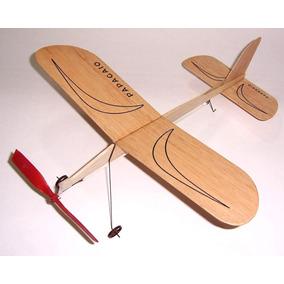 Kit Do Aeromodelo Papagaio - Vôo Livre Movido À Elástico!