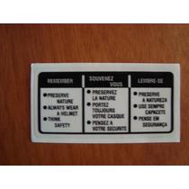 Adesivo De Advertencia Honda Cg 1977 Até 83 Cb 400 Xl 250r