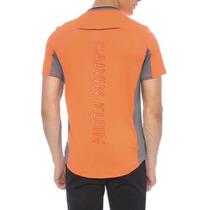 Playera Ck Calvin Klein Sport Casual Slim Fit Neon