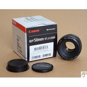 Lente Canon 50mm 1.4 F/1.4 Usm Ef Nova 100% Qual. Positivas!