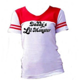 Kit 2 Camiseta E Shorts Fantasia Arlequina