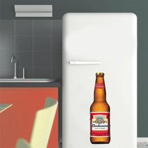 Adesivo Parede Cozinha Geladeira Cerveja Garrafa Budweiser