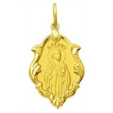 Medalha Religiosa São Pedro Em Ouro 18k Classico 2,10cm 1,3g