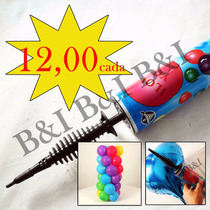 Bomba Para Inflar Bexigas, Encher Balão Metalizado